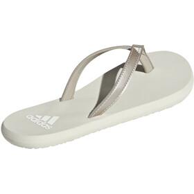 adidas Eezay Flip-flopit Naiset, platin metallic/footwear white/raw white